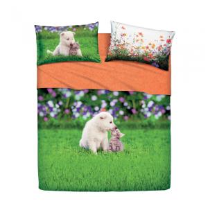 Set lenzuola letto singolo 1 piazza BASSETTI SMACK multicolore