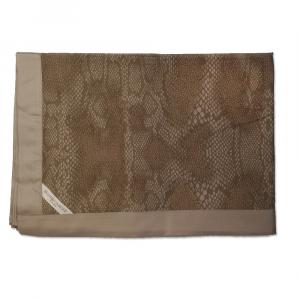 Granfoulard telo arredo copritutto Borbonese in raso PYTHON180x270 cm tortora