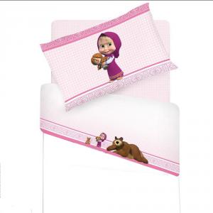 Set lenzuola per lettino con sponde Masha e Orso