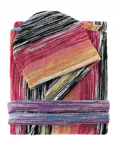 Accappatoio Missoni Home con cappuccio STANLEY 159 M multicolore