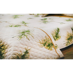 Set lenzuola matrimoniale 2 piazze SOMMA HAWAII verde percalle di cotone