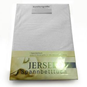 Lenzuola con angoli in maglina di cotone estensibile jersey fino a 200 x 200 bianco