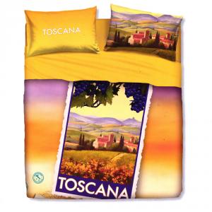 Set lenzuola letto singolo 1 piazza BASSETTI TOSCANA stampa digitale