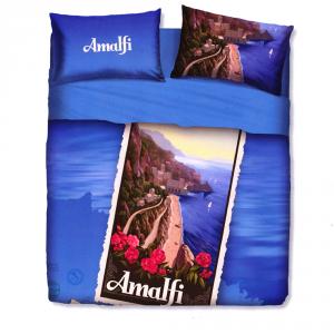 Set lenzuola letto singolo 1 piazza BASSETTI AMALFI stampa digitale