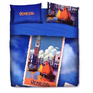 Set lenzuola letto singolo 1 piazza BASSETTI VENEZIA stampa digitale