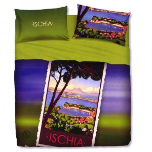 Set lenzuola letto singolo 1 piazza BASSETTI ISCHIA stampa digitale