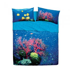 Set lenzuola letto singolo 1 piazza BASSETTI DEEP SEA stampa digitale