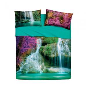 Set lenzuola letto singolo 1 piazza BASSETTI WATER FALLS stampa digitale