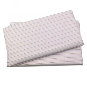 Lenzuolo di sotto con angoli 2 piazze Gabel RAYAS righe rosa percalle di cotone