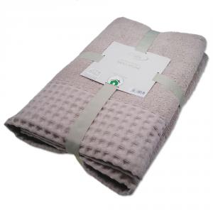 Coppia di asciugamani 1+1 Joile Firenze Nido Apone in spugna sabbia