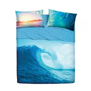 Set lenzuola letto singolo 1 piazza BASSETTI OCEAN WAVE stampa digitale