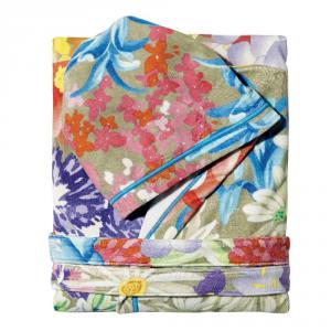 Accappatoio corto Missoni Home con cappuccio floreale multicolore SABINA S