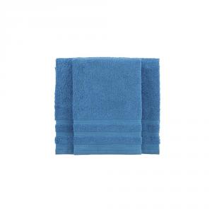 Set asciugamano e ospite BASSETTI TIME 370 grammi unita - bluette 1365