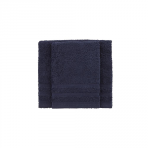 Set asciugamano e ospite BASSETTI TIME 370 grammi unita - blu navy  1379