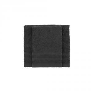 Set asciugamano e ospite BASSETTI TIME 370 grammi unita - grigio asfalto 1720