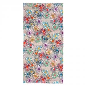 Telo mare Missoni in puro cotone 100x180 TOSCA floreale con frange