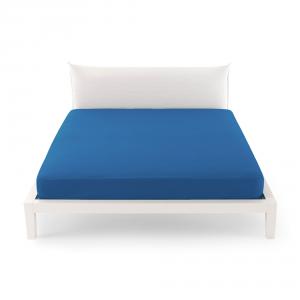 Bassetti Time Lenzuola di sotto per letto singolo 90x200 - Bluette 3378