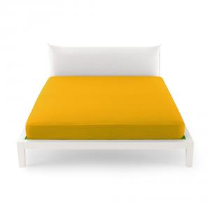 Bassetti Time Lenzuola di sotto per letto singolo 90x200 - giallo 1471