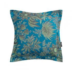 Cuscino arredo decorativo ZUCCHI Collection Bahar smeraldo satin 40x40 cm