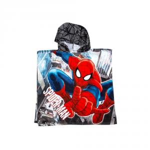 Telo mare con cappuccio poncho SPIDERMAN Caleffi Marvel spugna