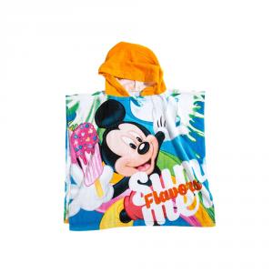 Telo mare con cappuccio poncho MICKEY MOUSE Caleffi Disney spugna