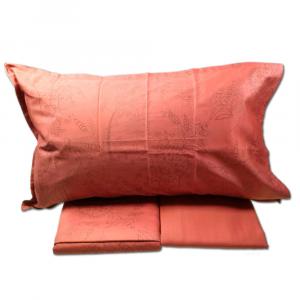 FAZZINI completo lenzuola Maxi matrimoniale SKETCH raso di cotone rosso
