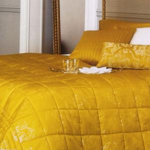 LA PERLA Trapunta invernale ELEGY matrimoniale raso di puro cotone oro