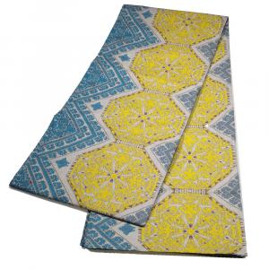 Bassetti Granfoulard telo arredo CANOVA var.3 350x270 cm giallo e azzurro