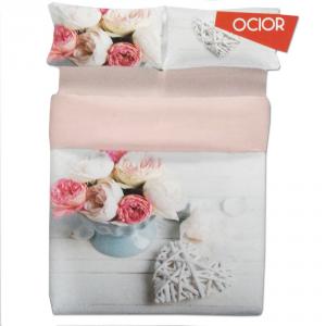 Set lenzuola matrimoniale 2 piazze Biancaluna OCIOR effetto copriletto