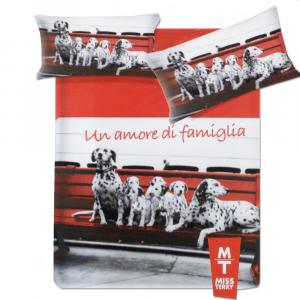 Set lenzuola matrimoniale 2 piazze Biancaluna MILLE-1 effetto copriletto