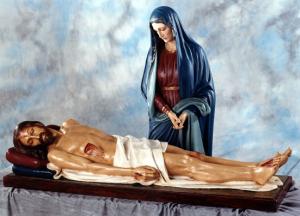 Statua del Cristo morto cm. 160 in vetroresina