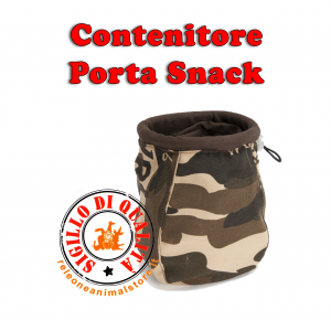 Contenitore Porta Snack mimetico Medium addestramento