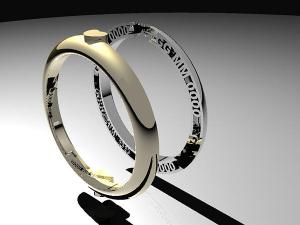 Customizable AD wedding rings