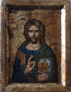 Icona Gesù Pantocratore di Svetlozar Mladenov 11,20 x 15,40 cm