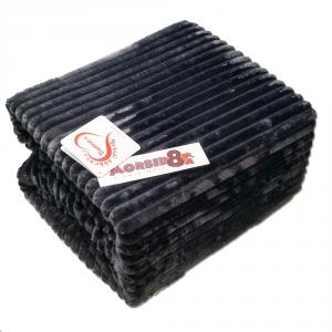 Plaid in micropile Daunex matrimoniale 2 piazze 250x210 cm antracite
