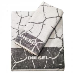 Diesel set 1+1 asciugamano e ospite CRACKLE' spugna di puro cotone - grigio