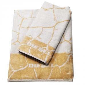 Diesel set 1+1 asciugamano e ospite CRACKLE' spugna di puro cotone - avorio