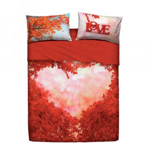 Set lenzuola letto matrimoniale 2 piazze BASSETTI LOVE EVERYWHERE
