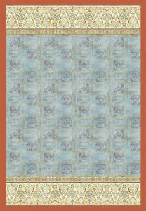 Bassetti Plaid Granfoulard 250x270 cm LUINI v.3 azzurro