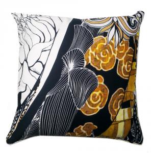 Cuscino decorativo ROBERTO CAVALLI 40x40 cm in raso SALOME' nero