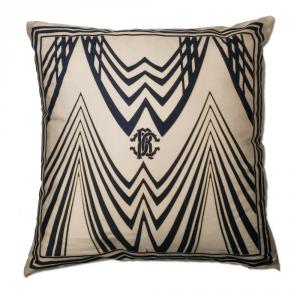 Cuscino decorativo ROBERTO CAVALLI 40x40 cm in raso DECO' beige