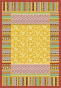 Bassetti Plaid Granfoulard 135x190 cm PORTOFINO v.4 giallo regalo originale