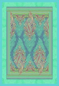 Bassetti Plaid Granfoulard 135x190 cm ELBA v.3 turchese regalo originale