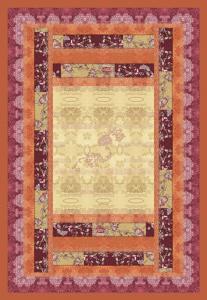Bassetti Plaid Granfoulard 135x190 cm GHIRLANDAIO 9 arancio regalo originale