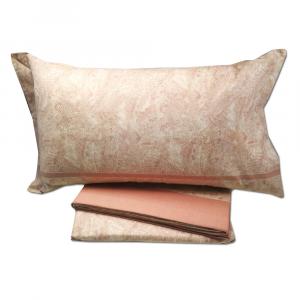 Set lenzuola invernali letto piazza e mezza caldo cotone CHAMONIX cipria 1774