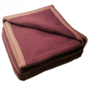 Coperta matrimoniale 2 piazze SOMMA N.Jersey 210x250 marrone pura lana