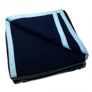 Coperta letto singolo  SOMMA N.Jersey 160x210 blu navy pura lana