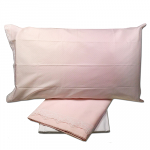 Set lenzuola matrimoniale 2 piazze TWINSET STYLE rosa raso di cotone