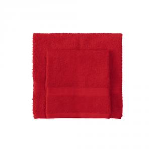 Set asciugamano e ospite BASSETTI TIME 370 grammi unita - carminio 1139