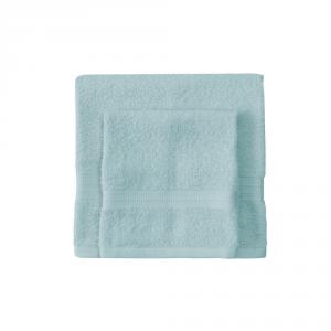Set asciugamano e ospite BASSETTI TIME 370 grammi unita - celeste 1300